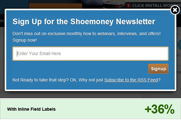 Opt in Email Newsletter Popup Best Practices for 2012