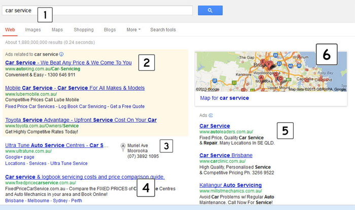If you search for Car Service, this is what you will find.