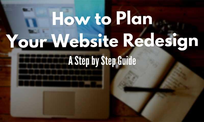 website redesign steps