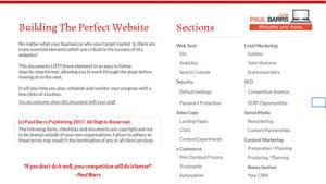 website checklist
