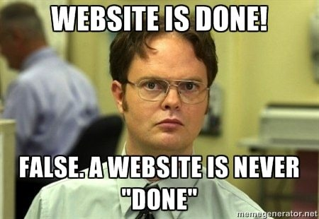 websites are never done