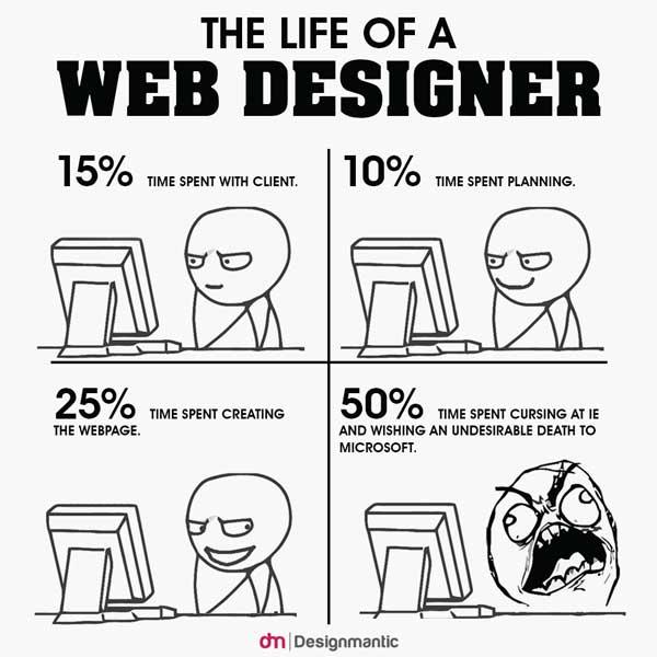 life of web designer