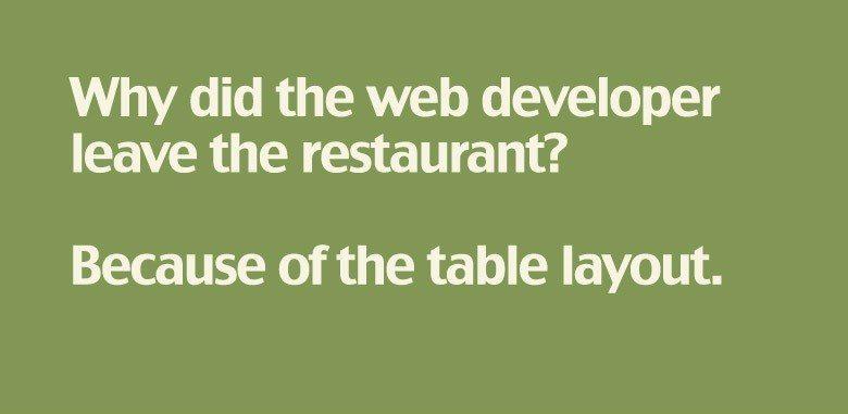 table joke
